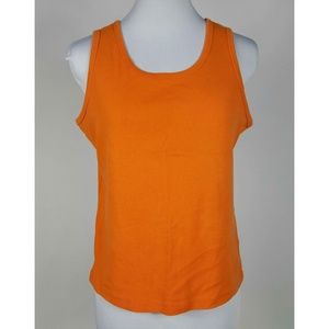 Basic Editions M Orange Tank Top 100% Cotton